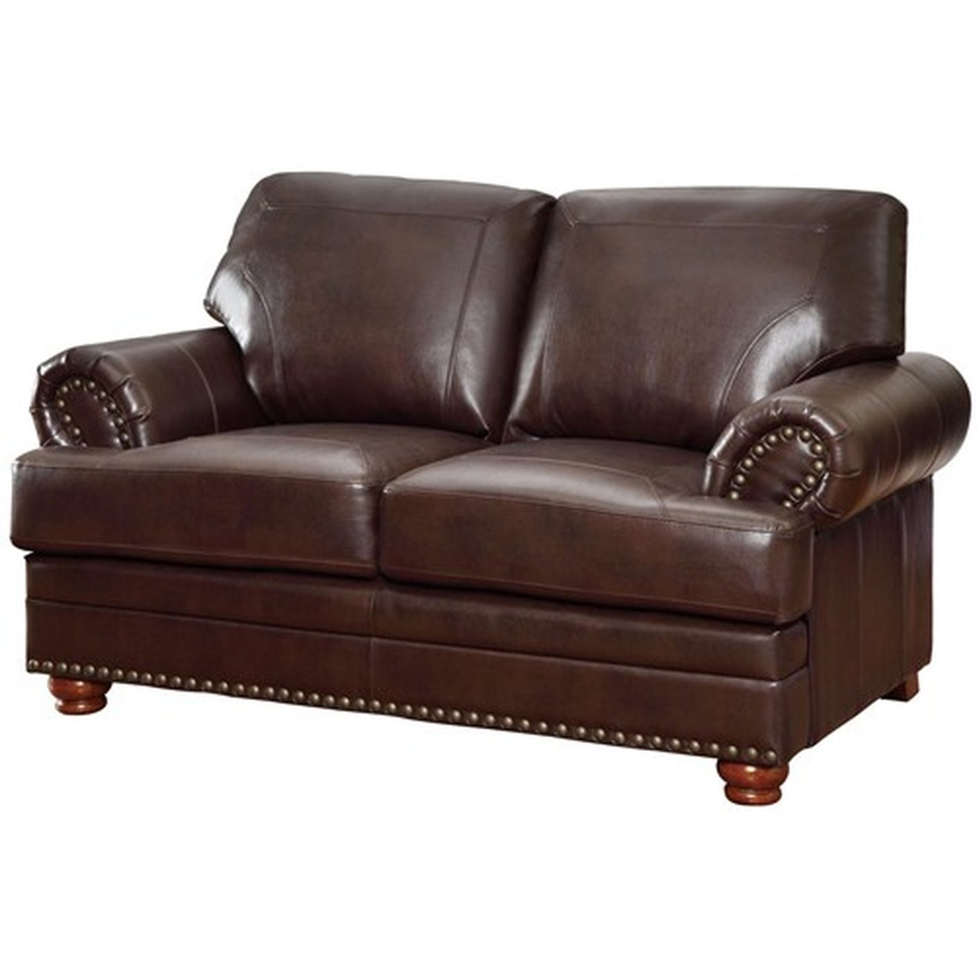 Leather Loveseat Coaster Colton 504412 Brown Leather Loveseat Steal A
