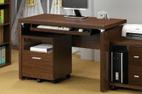 Coaster 800831 Brown Wood Computer Desk - Steal-A-Sofa ...