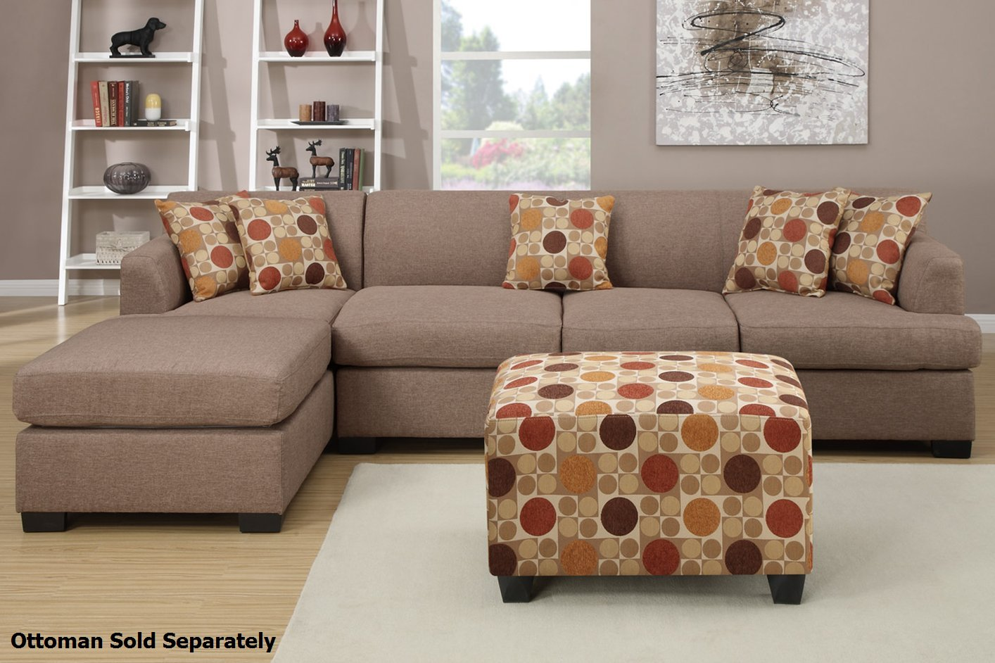 Sectional Sofas Montreal On Sale Poundex Montreal Iii F7966 F7968 Beige Fabric Sectional
