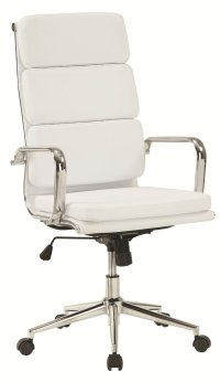 Coaster 800837 White Leather Office Chair - Steal-A-Sofa ...