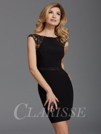 Clarisse Black Cocktail Dress 2902 | Promgirl.net