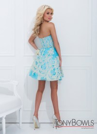 Tony Bowls 2014 Turquoise Gold Baby Doll Sweetheart Prom ...