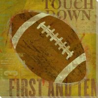 Football Wrapped Canvas Giclee Art Print Wall Art - Wall Decor