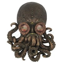 Large Bronze Steampunk Octopus Wall Plaque - Wall Decor ...