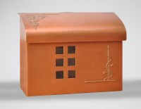 Ecco Mailboxes   E7 Wall Mount Mailbox - Copper Plated ...