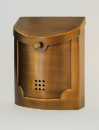 Ecco Mailboxes | E4BS Satin Brass Wall Mounted Modern ...