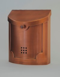 Ecco Mailboxes | E4CP Wall Mounted Copper Plated Modern ...