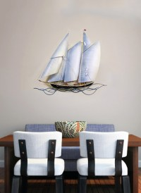 Sailing Ship Metal Wall Art