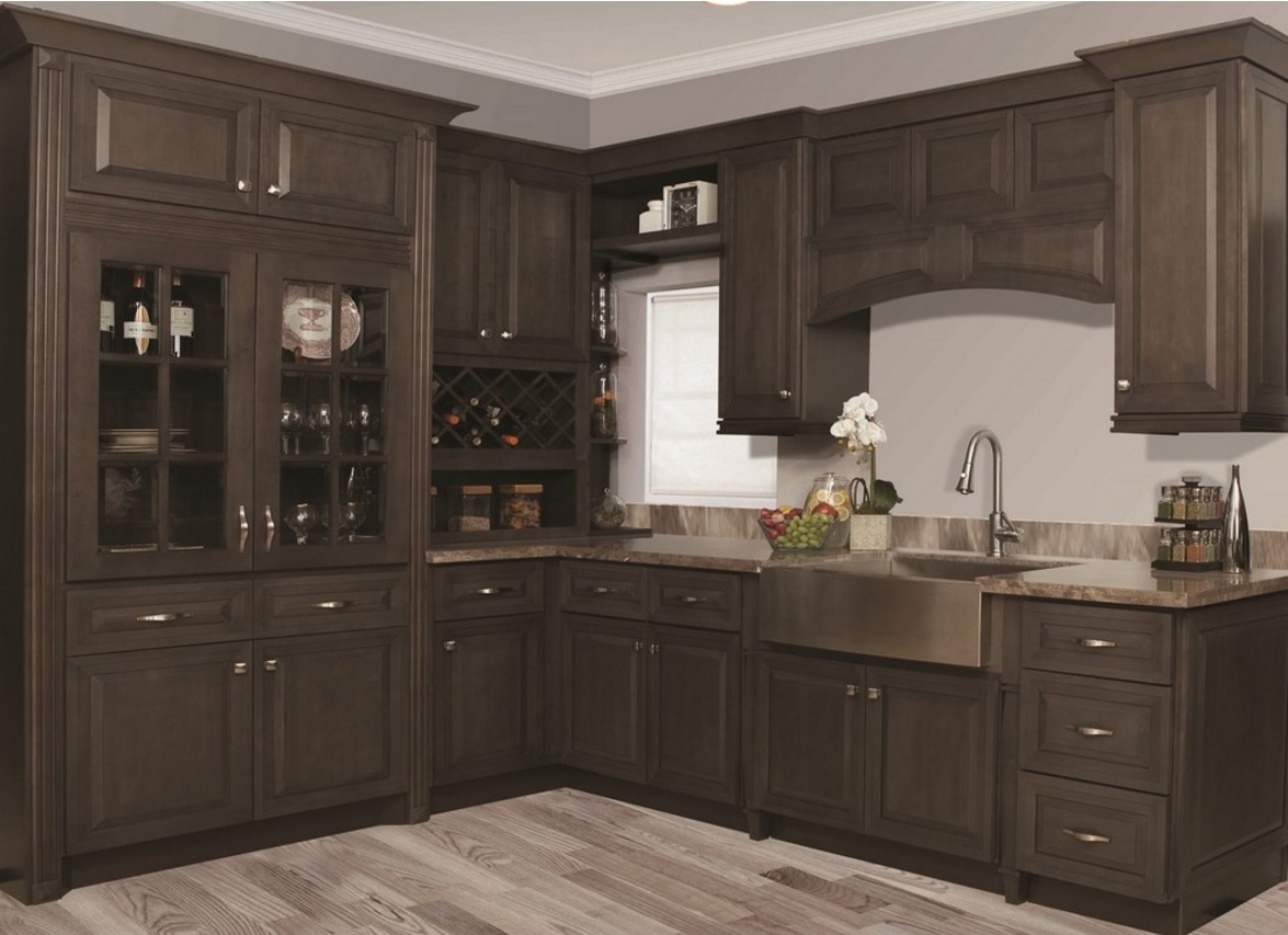 Stains For Kitchen Cabinets In Stock Rta Ready To Assemble Grey Stain Kitchen Cabinets