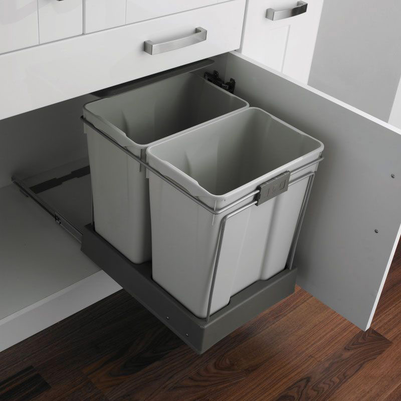 Kitchen Cabinet Discount Warehouse Built In Trash Cans Under Sink Trash Can Kitchen Cabinet