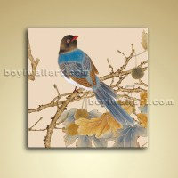 Modern Abstract Floral Painting Bird Tree Oil Canvas Wall ...