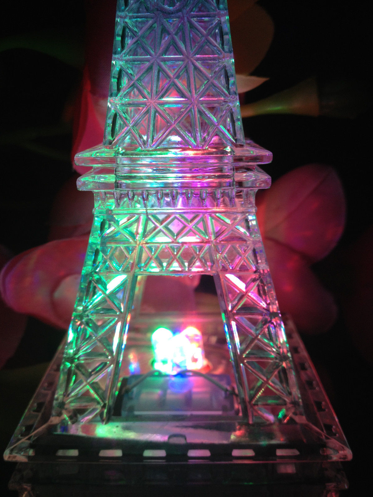Eiffel Chair 9 Inch Light Up Acrylic Led Eiffel Tower Souvenir W/ Build