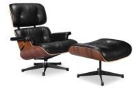 Eames Lounge Chair Replica Vitra Black | Manhattan Home Design