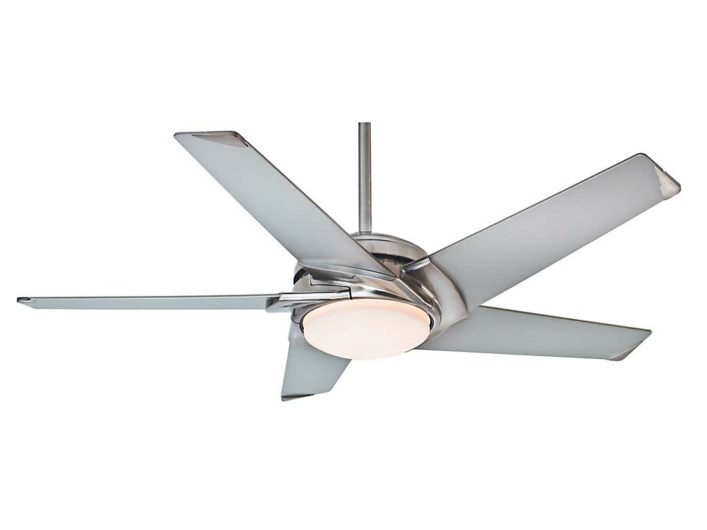 Contemporary Ceiling Fans Brushed Nickel Casablanca 59094 Stealth Modern Brushed Nickel Finish Home