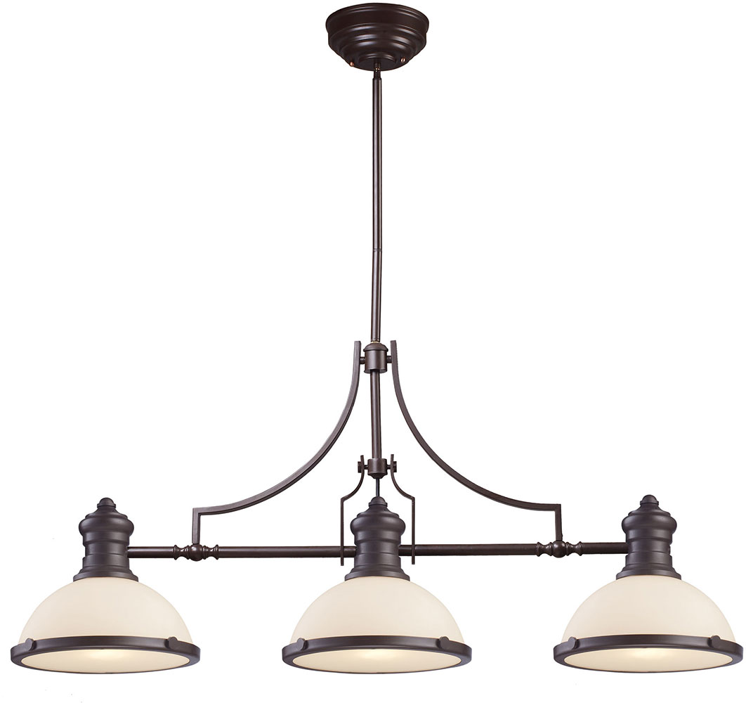 Modern Island Lighting Elk 66635 3 Modern Oiled Bronze Kitchen Island Light
