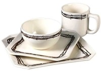 (RWSA9129) ''Barbwire Square'' 16-Pc Western Dinnerware Set