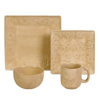 (HXDI4001CR) ''Savannah Creme'' Western Dinnerware Set ...