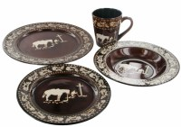 "Praying Cowboy"" Western 16-Piece Porcelain Dinnerware Set ..."