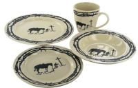 Praying Cowboy Dinnerware Set - 16 Pieces - RWSA9127