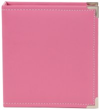 "Sn@p! Leather Binder 6""x8"" - Pink"
