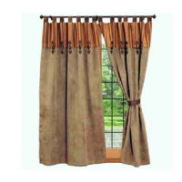 Autumn Leaf Thistle Curtains Set