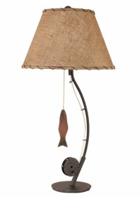 Fly Fishing Pole Table Lamp - RosenberryRooms.com