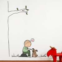 Happy Dog Wall Decal - RosenberryRooms.com