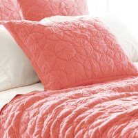 Marina Coral Euro Sham by Pine Cone Hill - RosenberryRooms.com