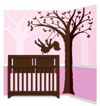 Silhouette Swing Paint by Number Wall Mural by Elephants ...
