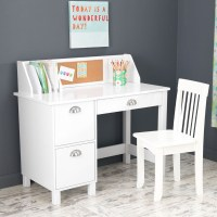 Study Desk with Drawers - White by KidKraft ...