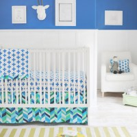 Uptown in Electric Blue Crib Bedding Set by New Arrivals Inc.