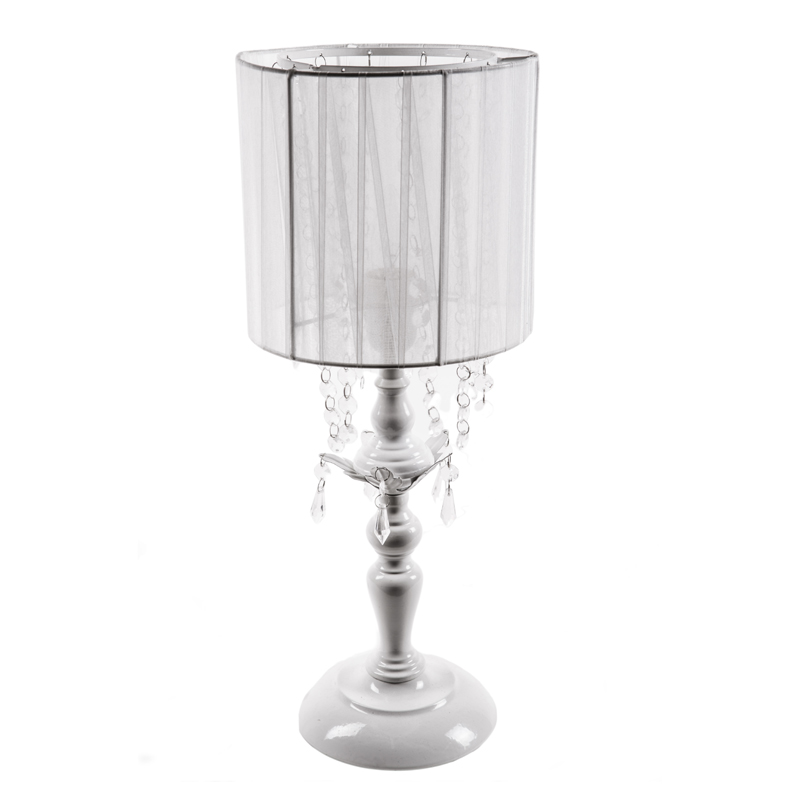 White Diamond Chandelier Shaded Table Lamp by Sleeping