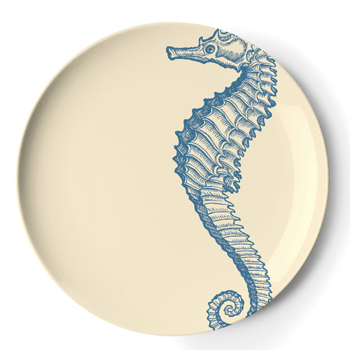 Set of Four Sea Life Melamine Salad/Dessert Plates