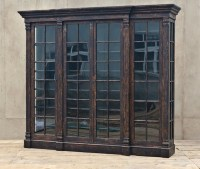 LARGE DISTRESSED BOOKCASE, BATTISTA, SEASONS BOOKCASES