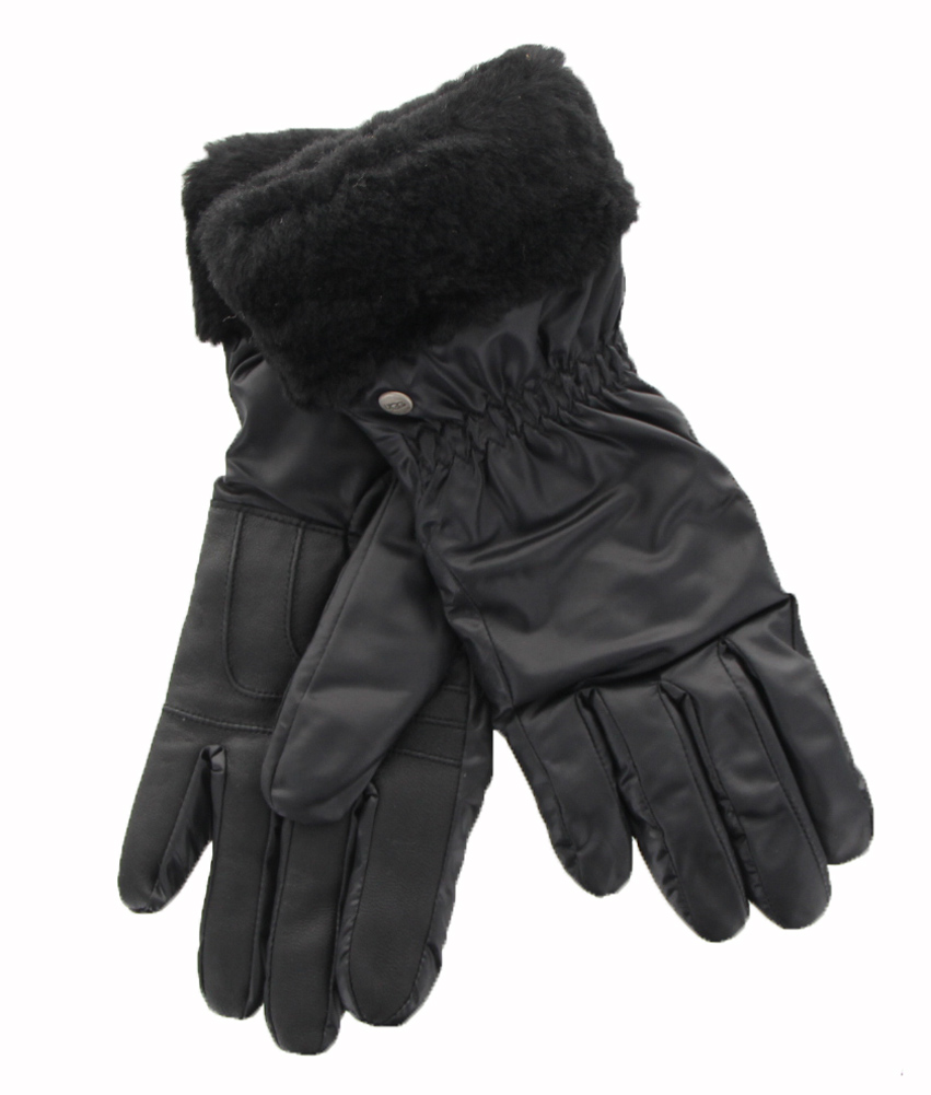 Womens black leather gloves australia