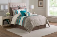 12 Piece Catalina Turquoise/Taupe/Ivory Bed in a Bag Set