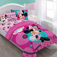 Disney Minnie Dreaming in Dots Comforter Set w/Fitted Sheet