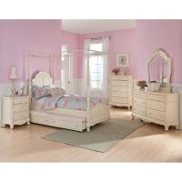 Details About Twin Canopy Bedroom Youth Princess Rebecca ...
