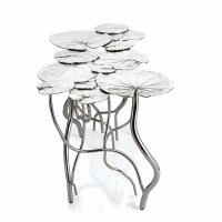 Lily Pad 12 Leaf Coffee Table - Nickel by Michael Aram