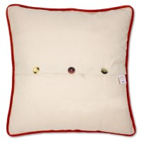 South Pole Hand-Embroidered Pillow by Catstudio