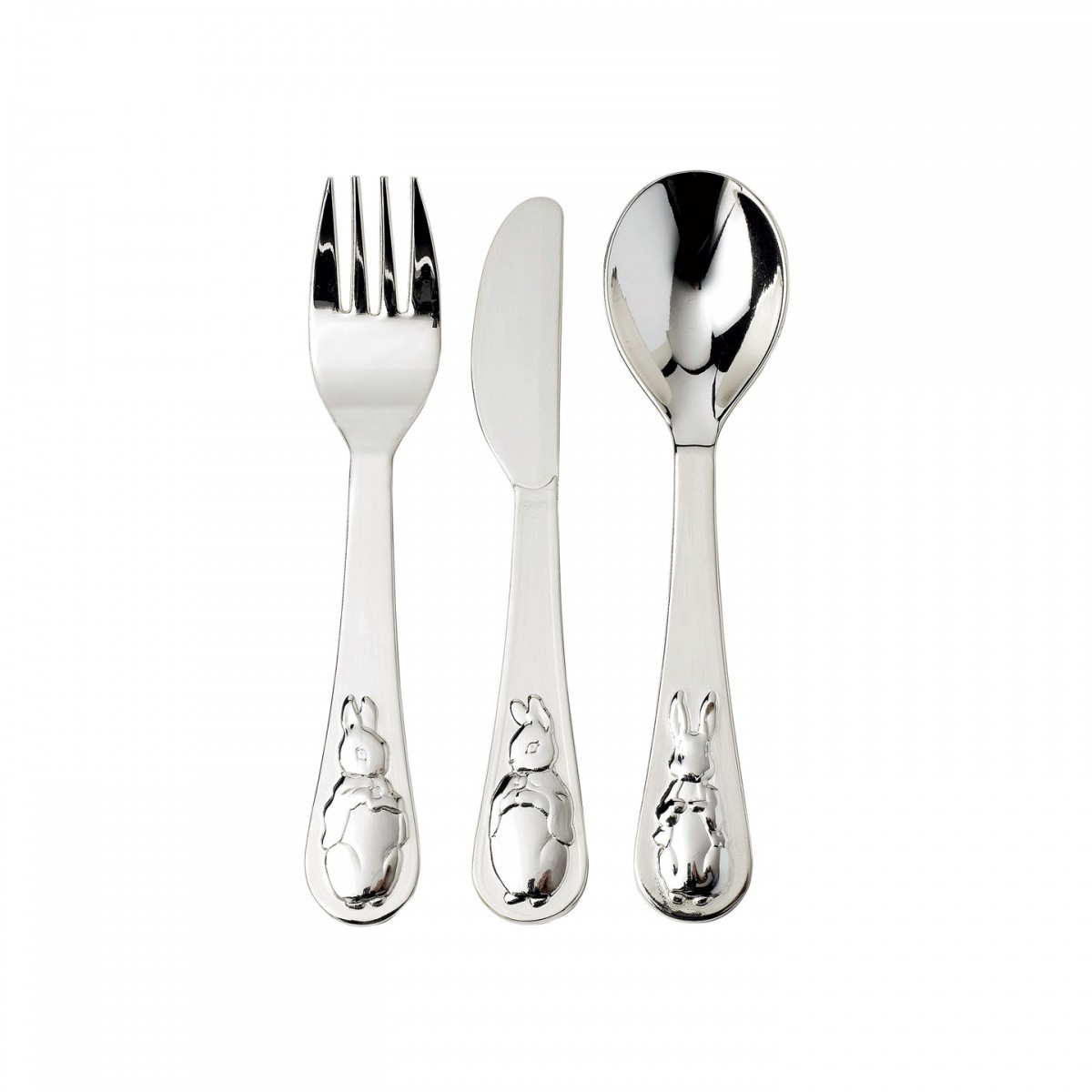 Standing Knife Flatware Peter Rabbit Silver Fork Knife And Spoon Set By Wedgwood