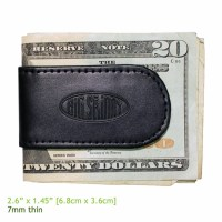 Leather Magnetic Cash Holder and Money Clip