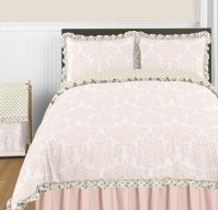 Blush Pink, Gold and White Amelia 3pc Full / Queen Girls