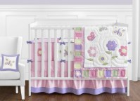Pink and Purple Butterfly Baby Bedding - 9pc Crib Set only ...