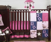 Western Horse Cowgirl Baby Bedding - 11pc Crib Set only ...