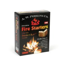 AW Perkins Fire Starters - 144 Squares Per Box