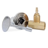 Dante Globe Gas Valve, Key and Floor Plate Kit - Straight ...