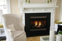 """Majestic VFH 32"""" Ventless Fireplace with 24"""" Triple Play ..."""