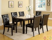 Atlas I Contemporary Black Casual Dining Set with Faux ...