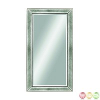 Beaded Silver Leaf Contemporary Wall Mirror M1946BEC